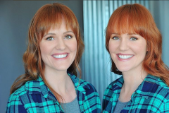 Identical Twins Headshots : Makeup & Hair by Nina Roxanne